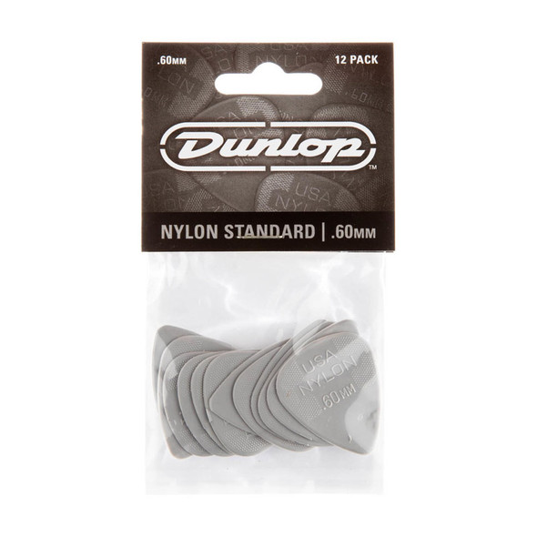 Dunlop Nylon Standard Picks .60mm, 12 Pack