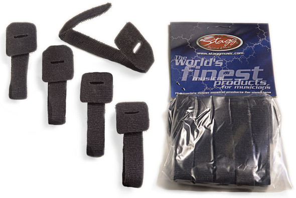 Stagg VCS-225 Hook and Loop Cable Straps 5 Pack
