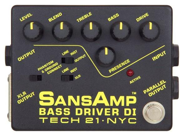 Tech 21 SansAmp Bass Driver Preamp Di Effects Pedal