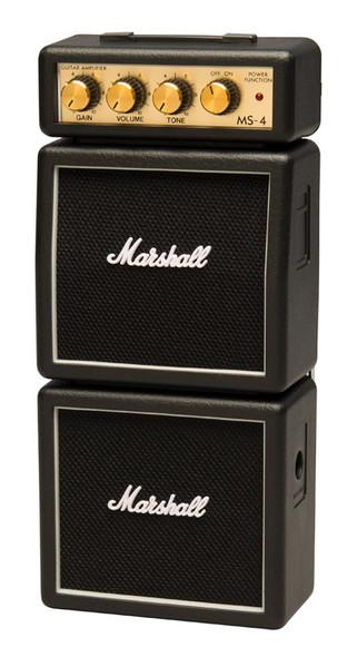Marshall MS-4 Micro Stack Guitar Amp, Black