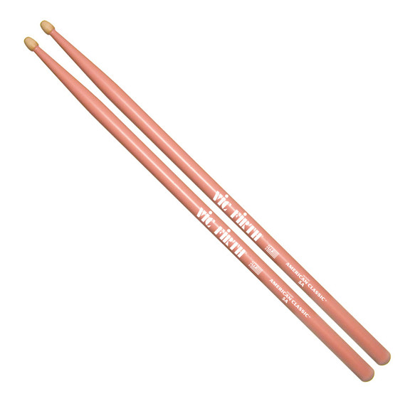 Vic Firth American Classic 5A PINK Drumsticks, Wood Tip