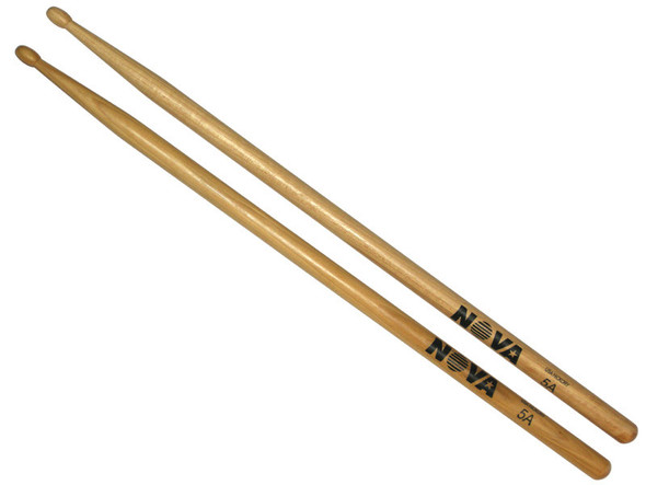 Vic Firth Nova 5A Drumsticks, Wood Tip