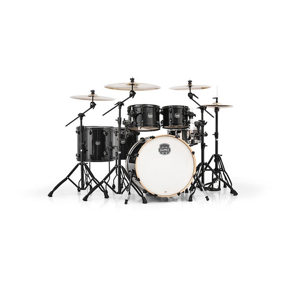 Mapex Armory Acoustic Drum Kit with 14 x 5.5 Tomahawk Snare, Black