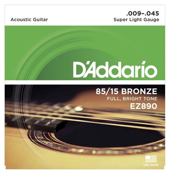 D'Addario EZ890 Super Light Acoustic Guitar Strings 9-45