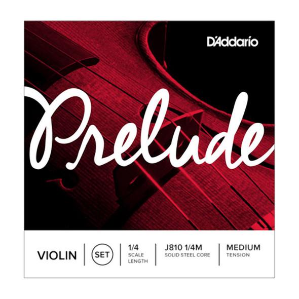 D'Addario Prelude Violin String Set 1/4 Scale Medium Tension