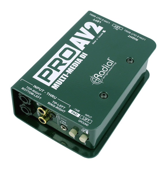 Radial ProAV2 Passive multimedia direct box - stereo