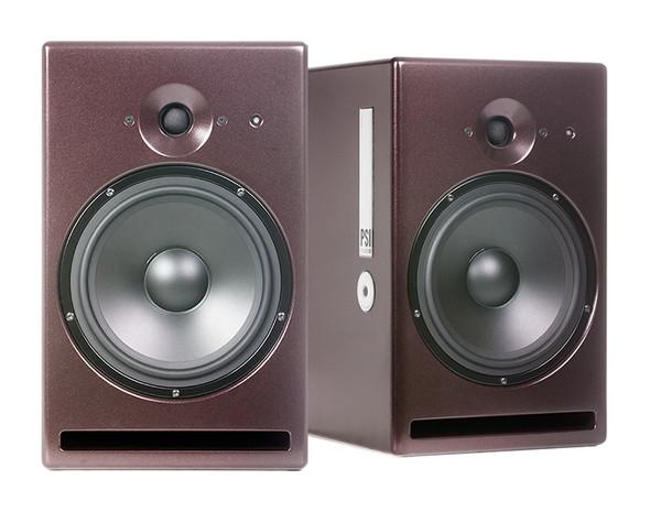 PSI Audio A21-M Active Studio Monitors, Red (Pair)