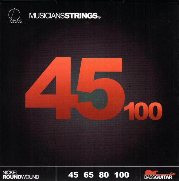 Picato Nickel Round Wound Bass Guitar Strings, 45-100 Gauge