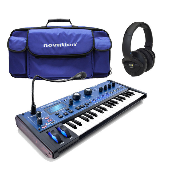 Novation Mininova Synthesizer, Gig Bag & KRK KNS6400 Headphones Bundle