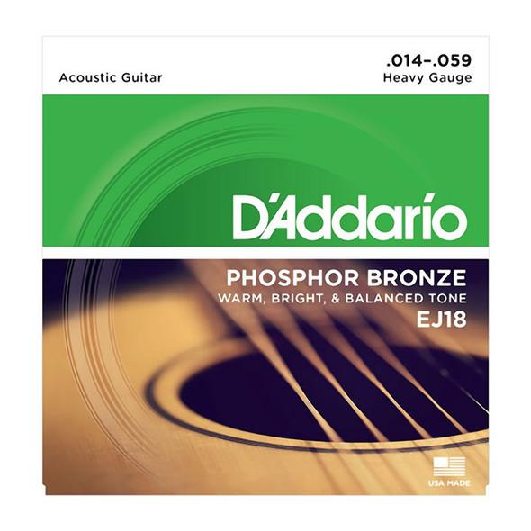 D'Addario EJ18 Phosphor Bronze Acoustic Guitar Strings, Heavy 14-59