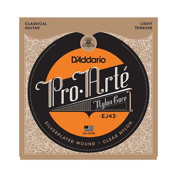 D'Addario EJ43 Pro-Arte Nylon Acoustic Guitar Strings, Light Tension