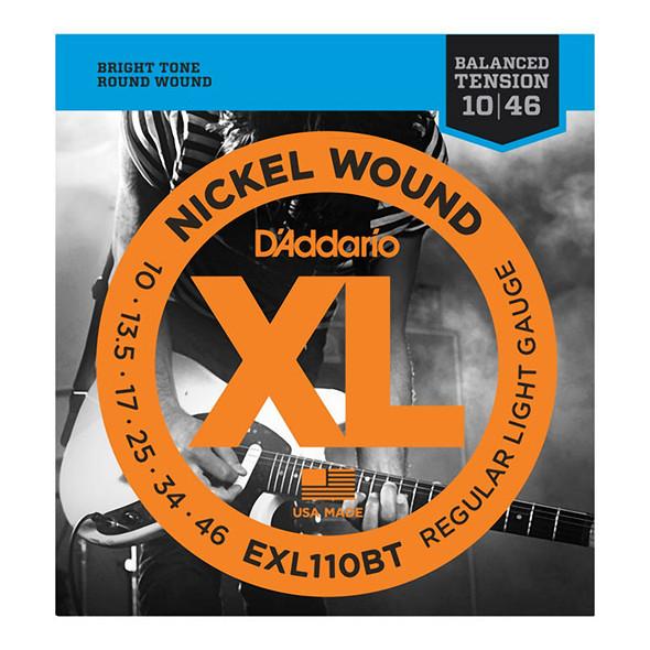 D'Addario EXL110BT Nickel Wound Electric Strings, Bal. Tension, Reg Light 10-46