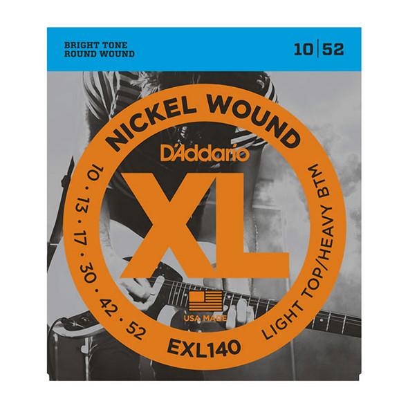 D'Addario EXL140 Nickel Wound Electric Strings, Light Top/Heavy Bottom 10-52