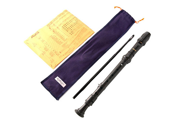 Aulos Descant Recorder 303 Elite, Blue Bag