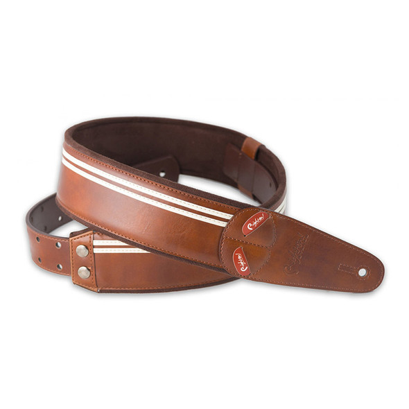 Right On Straps Mojo Series Race Guitar Strap, Brown