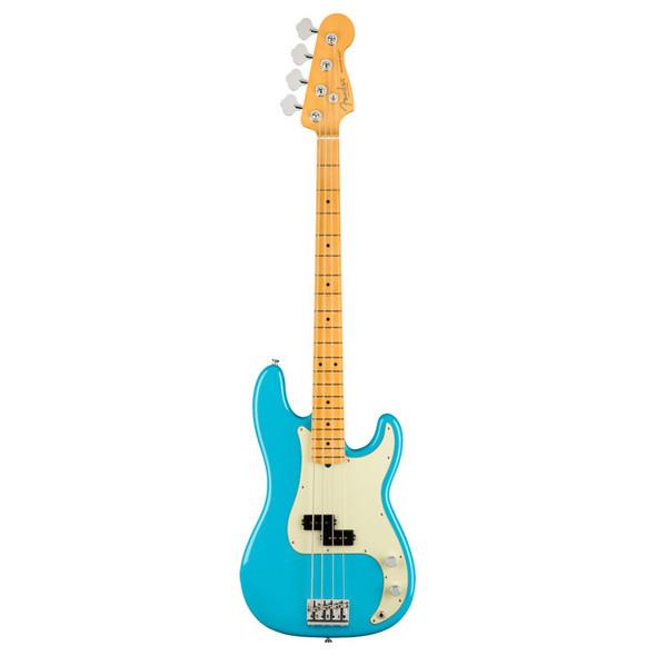 Fender American Pro II Precision Bass Guitar, Miami Blue, Maple