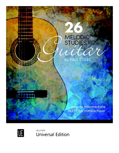Paul Coles 26 Melodic Studies For Guitar BK (Easy to Intermediate)