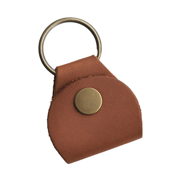 Gibson Premium Leather Pickholder Keychain, Brown
