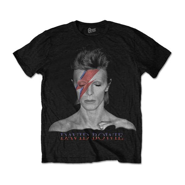 David Bowie Unisex Tee: Aladdin Sane (Large)