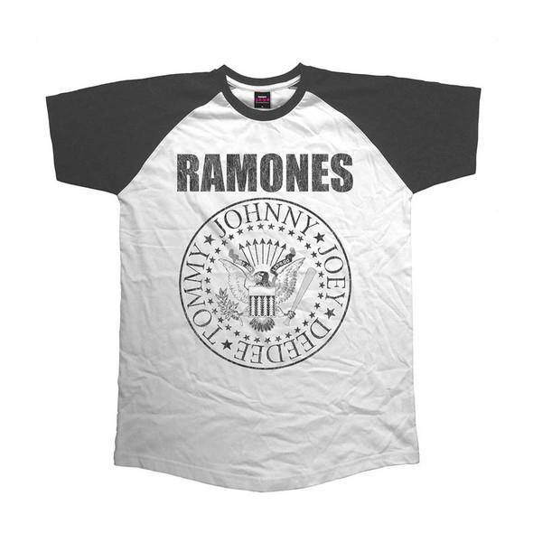 Ramones Unisex Raglan Tee: Presidential Seal (Large)