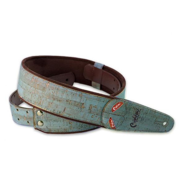 Right On Straps Mojo Series Cork Teal Guitar Strap