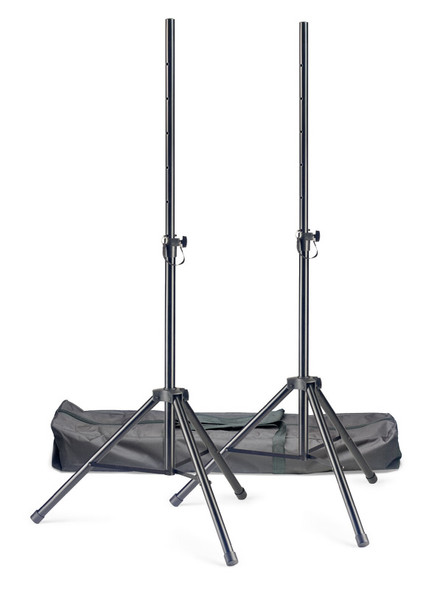 Stagg SPSQ10 Set Pair of Steel Speaker Stands with bag