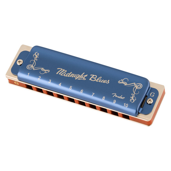Fender Midnight Blues Harmonica, Key of G