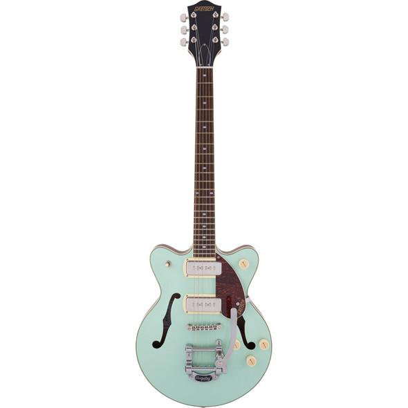 Gretsch G2655T-P90 Streamliner Center Block JR DC Electric Guitar, 2-Tone Mint Metallic