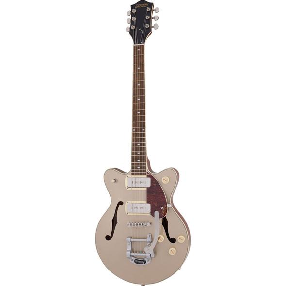 Gretsch G2655T-P90 Streamliner Center Block JR DC Electric Guitar, 2-Tone Sahara Metallic
