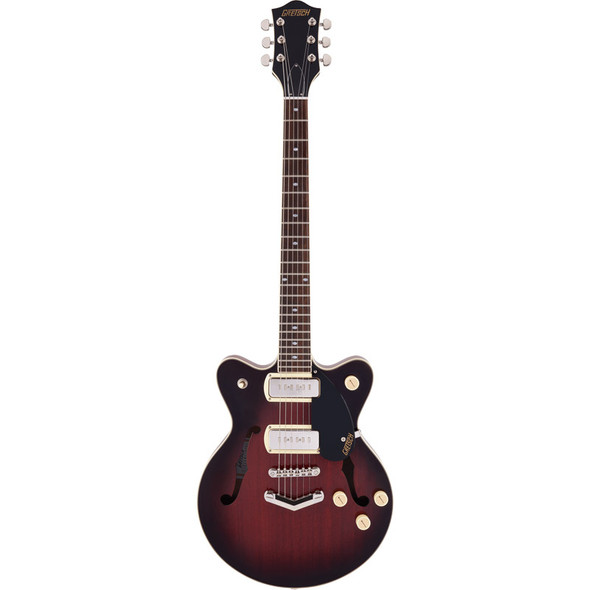 Gretsch G2655-P90 Streamliner Center Block JR DC Electric Guitar, Claret Burst