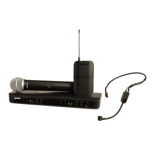 Shure BLX1288UK/PGA31 PG Wireless System with PG58 Handheld and PGA31 Headset