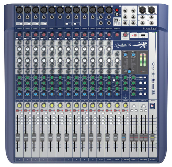 Soundcraft Signature 16 Analogue Mixing Console  (ex-display)