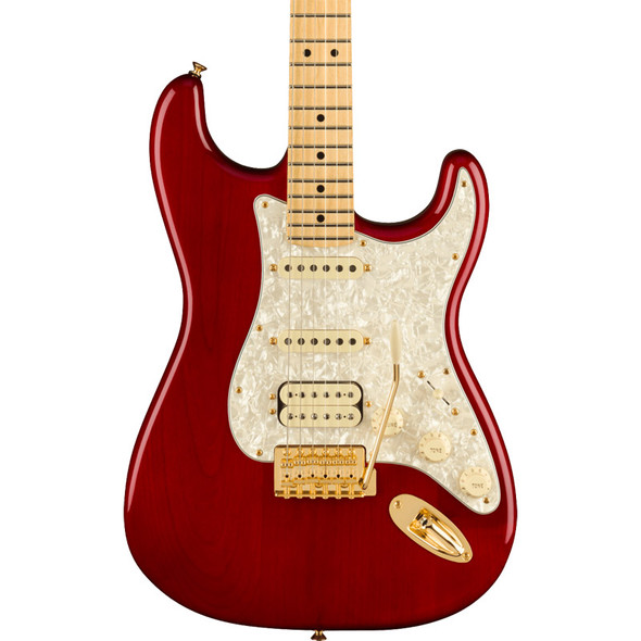 Fender Tash Sultana Stratocaster Electric Guitar, Maple Neck, Transparent Cherry