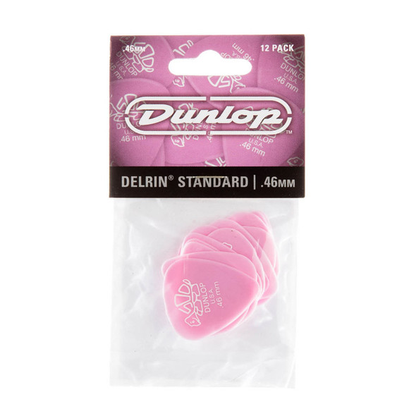 Dunlop Delrin 500 Picks 0.46mm, Pack of 12