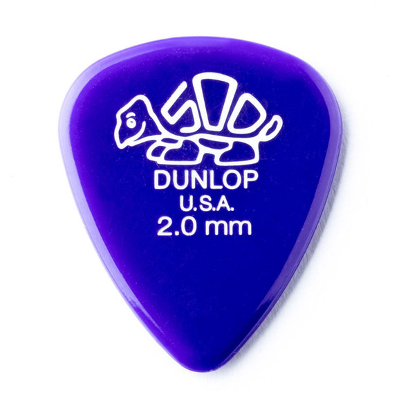 Dunlop Delrin 500 Picks 2.0mm, Pack of 12