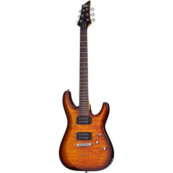 Schecter C-6 Plus Electric Guitar, Vintage Sunburst