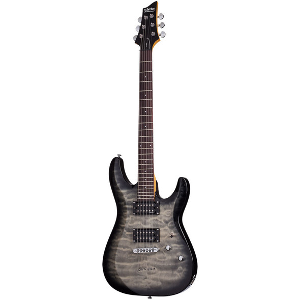 Schecter C-6 Plus Electric Guitar, Charcoal Black