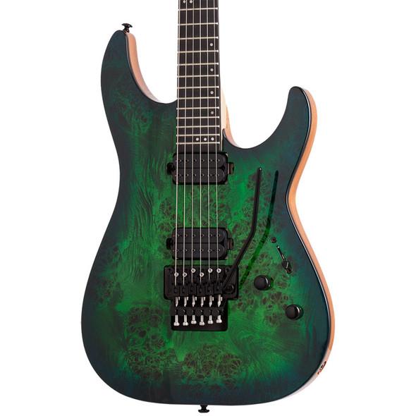 Schecter C-6 FR PRO Electric Guitar, Aqua Burst