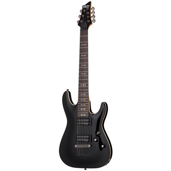 Schecter Omen-7 Electric Guitar, Gloss Black
