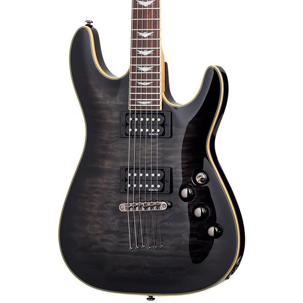 Schecter Omen Extreme-6 Electric Guitar, See-Thru Black