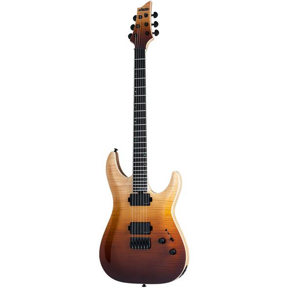 Schecter C-1 SLS Elite Electric Guitar, Antique Fade Burst