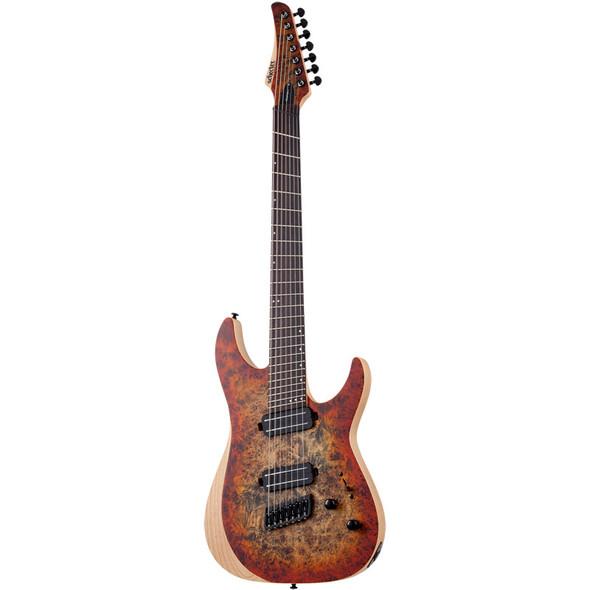 Schecter Reaper-7 Multi-Scale Electric Guitar, Inferno Burst