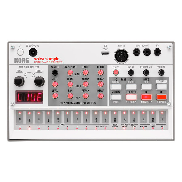 Korg Volca Sample2 Digital Sample Sequencer with USB