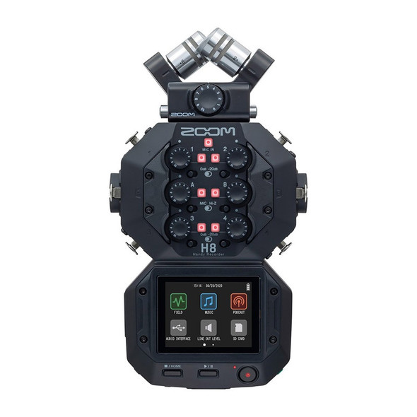 Zoom H8 Handy Recorder Portable Multi-Track Recorder (ex-display)