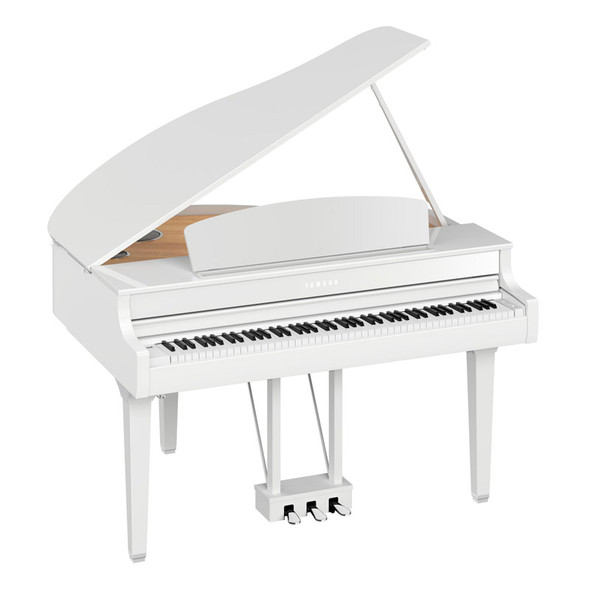 Yamaha CLP-795GPPW Clavinova Digital Grand Piano, Polished White