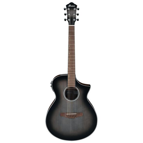 Ibanez AEWC11-TCB Electro-Acoustic Guitar, Transparent Charcoal Burst