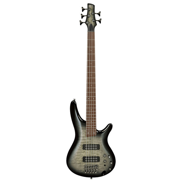 Ibanez SR Standard SR405EQM-SKG 5 String Bass Guitar, Surreal Black Burst Gloss