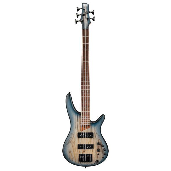 Ibanez SR Standard SR605E-CTF 5 String Bass Guitar, Cosmic Blue Starburst Flat