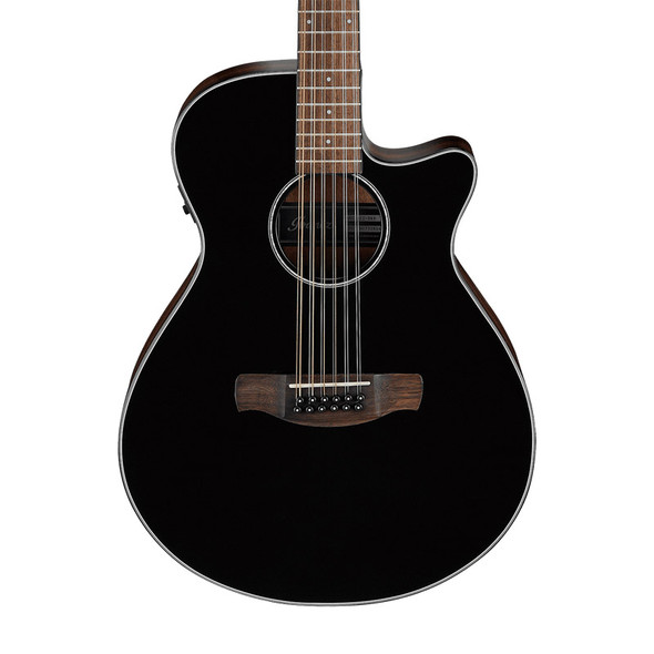 Ibanez AEG5012-BKH 12 String Electro-Acoustic Guitar, Black High Gloss