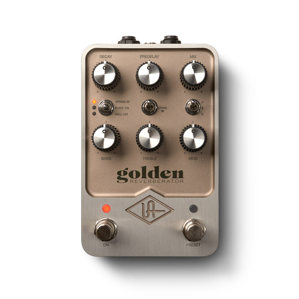 Universal Audio UAFX Golden Reverberator Stereo Effects Pedal